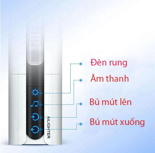 Máy thủ dâm silcon bú mút rung thụt xoay tạo nhiệt độ  phát âm thanh Ailighter