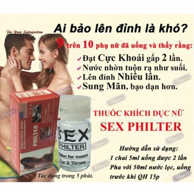 thuốc kích dục nữ dạng nước cực mạnhSex Philter PT